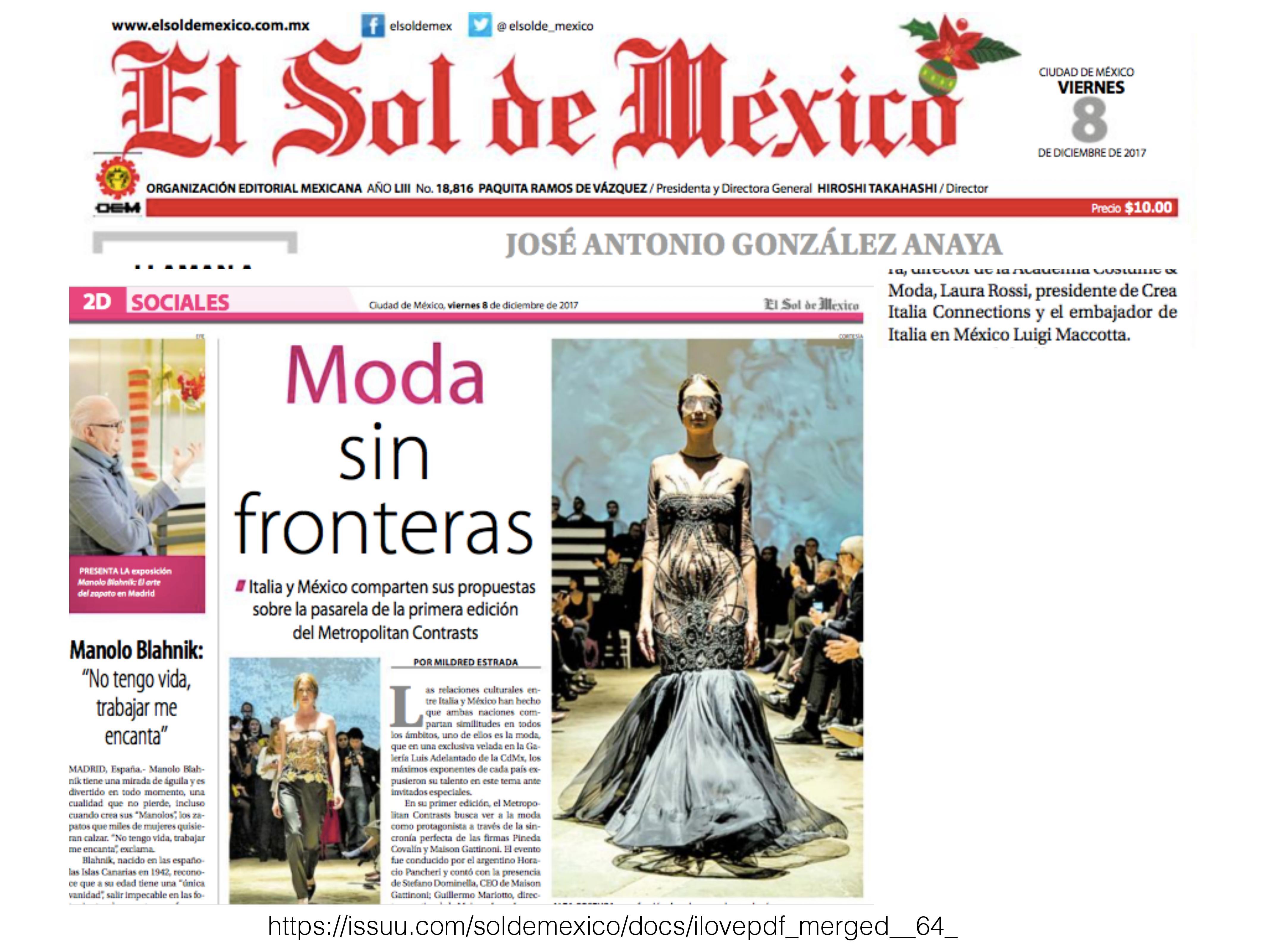 bec07f7ae2 Rueda de Prensa – Metropolitan Contrasts – Crea Italia Connections
